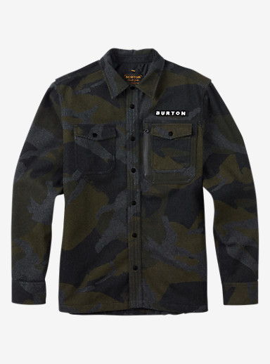 Burton Harbour Wool CPO Jacket shown in Beetle Derby Camo