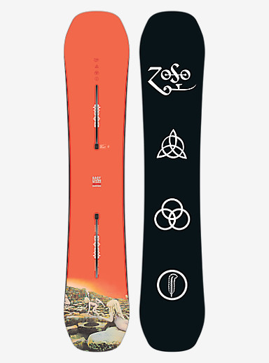 Led Zeppelin x Burton Easy Livin Snowboard shown in 152