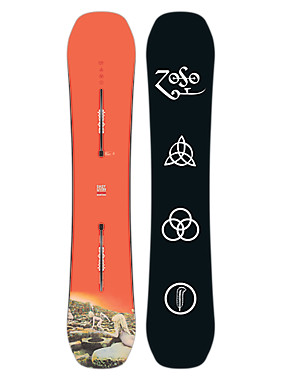 Led Zeppelin x Burton Easy Livin Snowboard angezeigt in 152