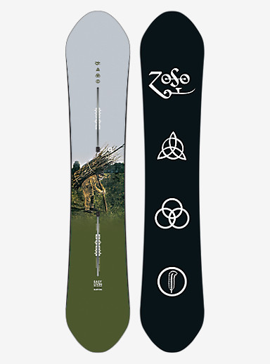 Led Zeppelin x Burton Easy Livin Snowboard shown in 158