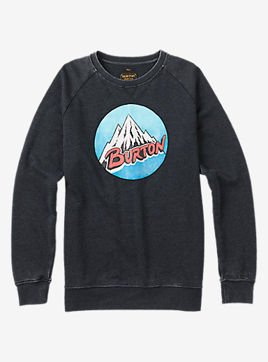 Burton Retro Mountain Crew shown in True Black Heather