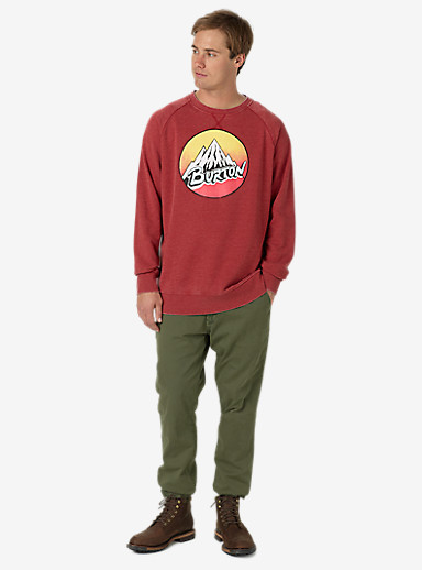 Burton Retro Mountain Crew shown in Brick Red Heather