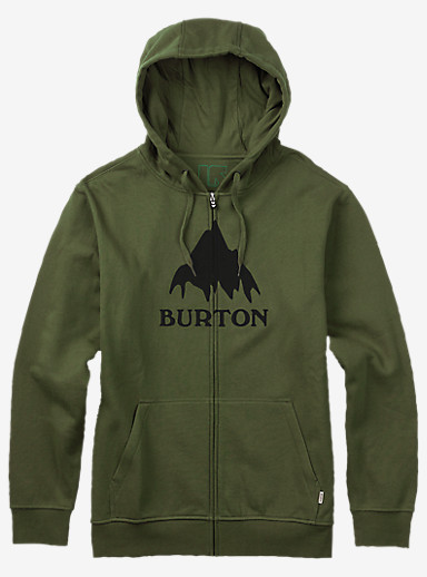 Burton Classic Mountain Full-Zip Hoodie shown in Olive Branch