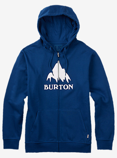 Burton Classic Mountain Full-Zip Hoodie shown in True Blue