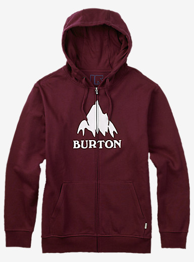 Burton Classic Mountain Full-Zip Hoodie shown in Wino