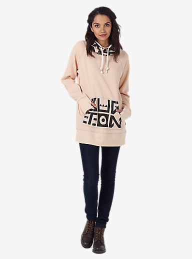 Burton Foxtrot Pullover Hoodie shown in Dove Heather