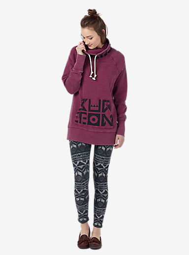 Burton Foxtrot Pullover Hoodie shown in Sangria Heather