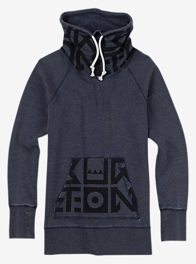 Burton Foxtrot Pullover Hoodie shown in Eclipse Heather