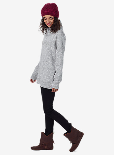 Burton Josie Mockneck Pullover shown in Gray Heather