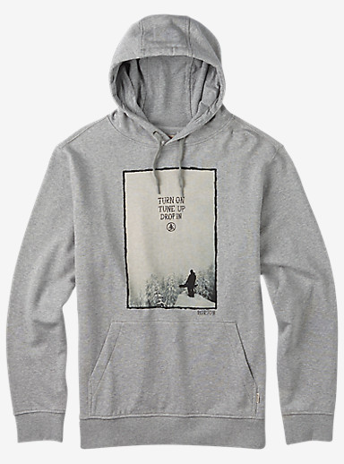 Burton Drop In Pullover Hoodie shown in Gray Heather