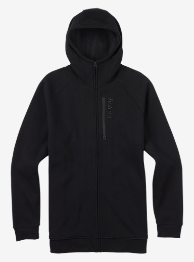 Analog Forte Bonded Thermal Hoodie shown in True Black