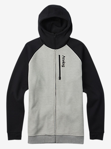 Analog Forte Bonded Thermal Hoodie shown in Gray Heather