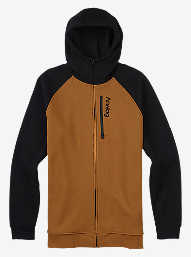Analog Forte Bonded Thermal Hoodie shown in Copper