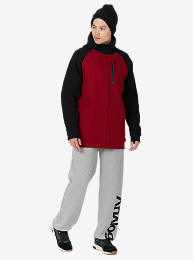 Analog Forte Bonded Thermal Hoodie shown in Blood