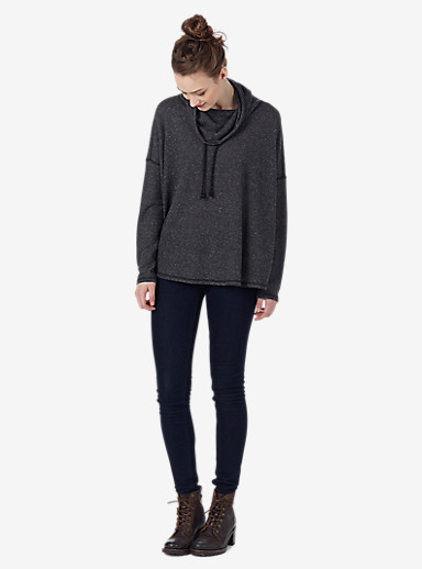 Burton Bloom Knit Top shown in True Black Heather
