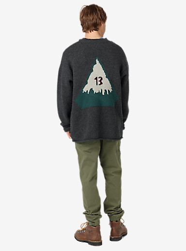 Burton Throwback Sweater shown in Dark Ash Heather