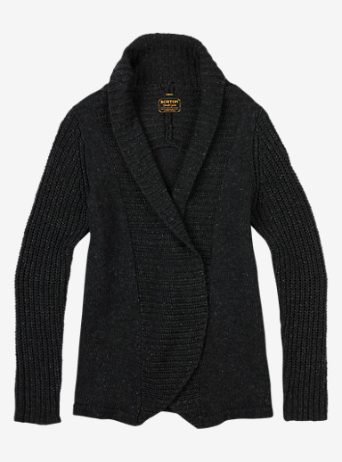 Burton Adele Cardi shown in True Black Heather