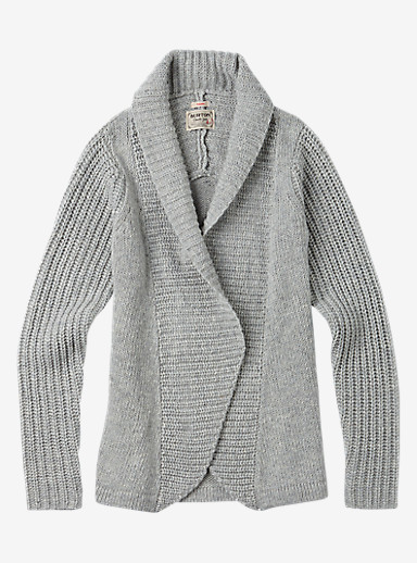 Burton Adele Cardi shown in Dove Heather