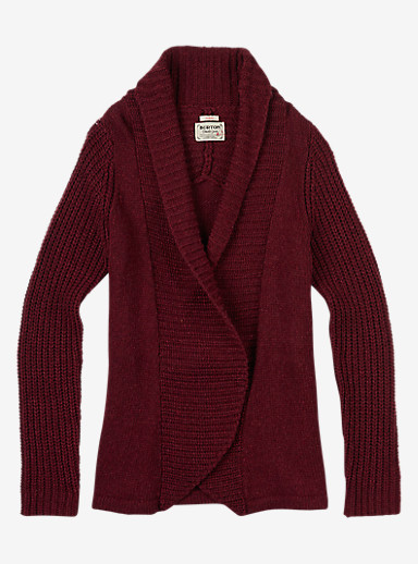 Burton Adele Cardi shown in Sangria Heather