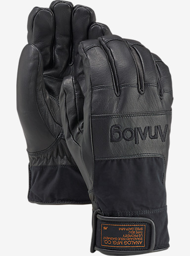 Analog Diligent Glove shown in True Black Leather