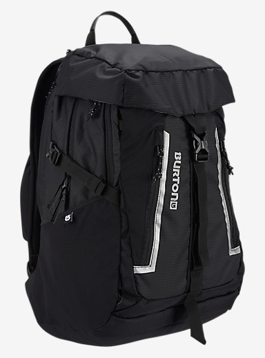 Burton Day Hiker Pinnacle 31L Backpack shown in True Black Ripstop