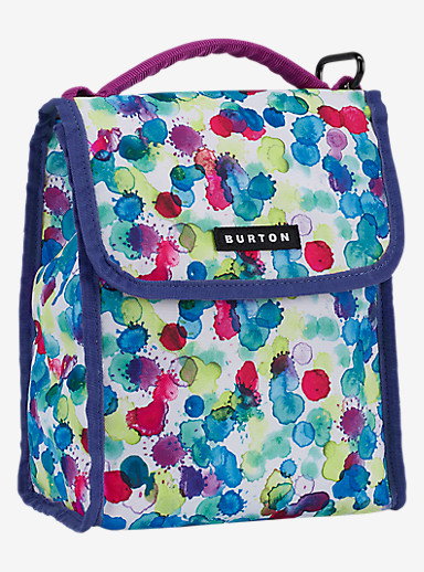 Burton Lunch Sack shown in Rainbow Drops Print