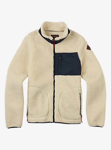 Burton Bombay Full-Zip Fleece shown in Canvas