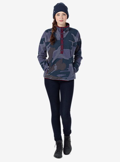 Burton Anouk Fleece Anorak shown in Eclipse Derby Camo