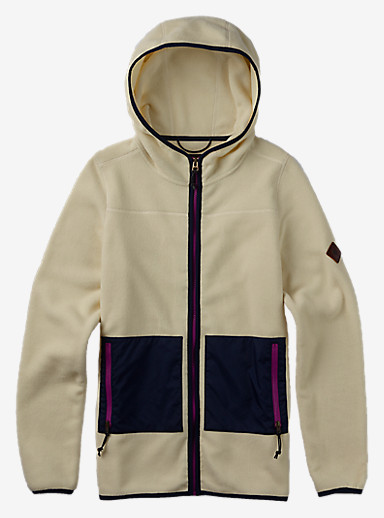 Burton Anouk Fleece Full-Zip shown in Canvas Heather