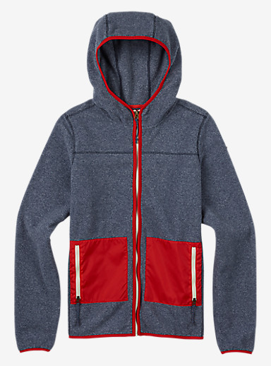 Burton Anouk Fleece Full-Zip shown in Mood Indigo Heather
