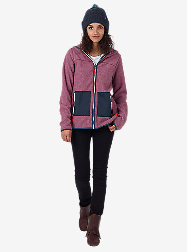 Burton Anouk Fleece Full-Zip shown in Sangria Heather