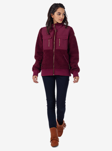 Burton Bolden Full-Zip Fleece shown in Sangria