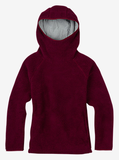 Burton Lynx Pullover Fleece shown in Sangria