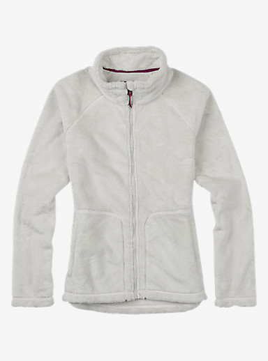 Burton Mira Full-Zip Fleece shown in Stout White