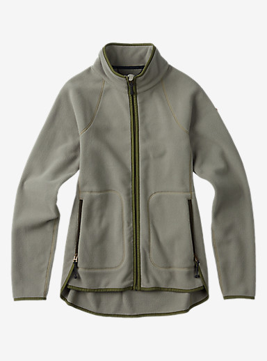 Burton Lira Full-Zip Fleece shown in Vetiver