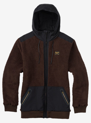 Burton Tribute Full-Zip Fleece shown in Mocha