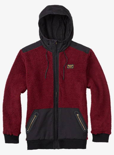 Burton Tribute Full-Zip Fleece shown in Wino