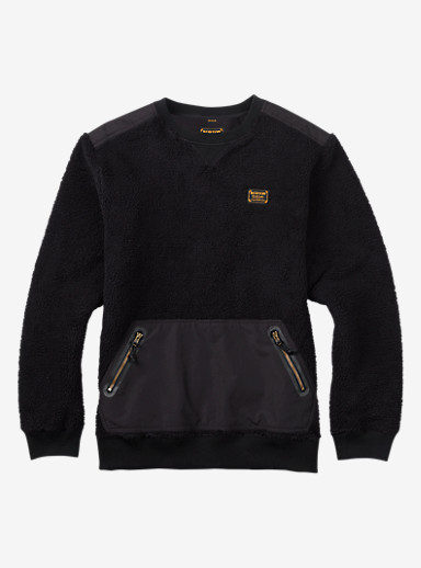 Burton Tribute Fleece Crew shown in True Black