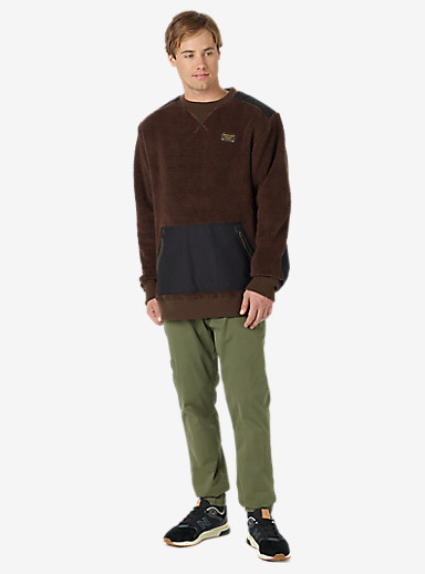 Burton Tribute Fleece Crew shown in Mocha