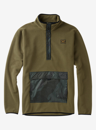 Burton Hearth Fleece Anorak shown in Keef