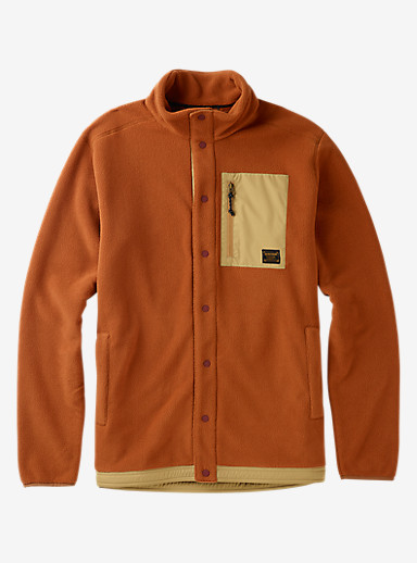 Burton Hearth Snap-Up Fleece shown in True Penny