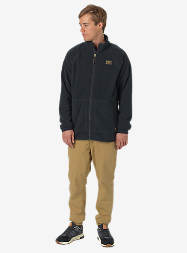 Burton Ember Full-Zip Fleece shown in True Black