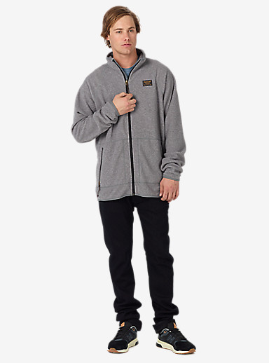 Burton Ember Full-Zip Fleece shown in Dark Ash Heather