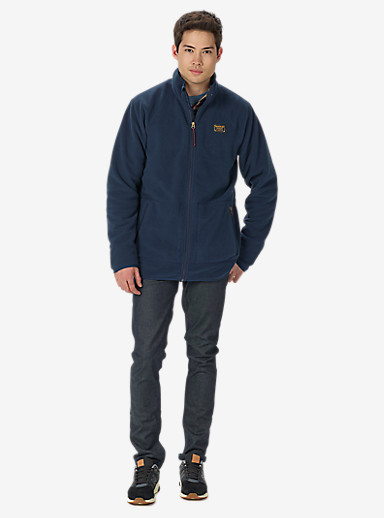 Burton Ember Full-Zip Fleece shown in Eclipse
