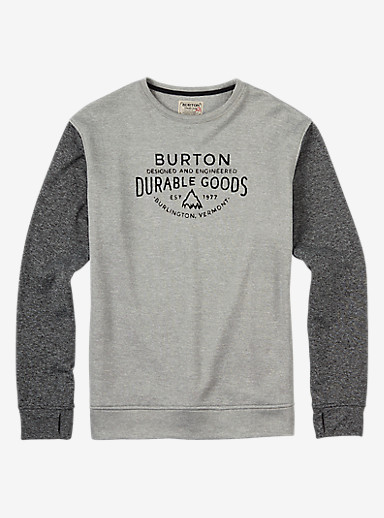 Burton Oak Crew shown in True Black / Monument Heather