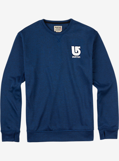 Burton Oak Crew shown in True Blue Heather