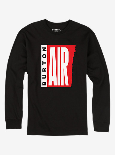 Burton Mystery Air Long Sleeve T Shirt shown in True Black