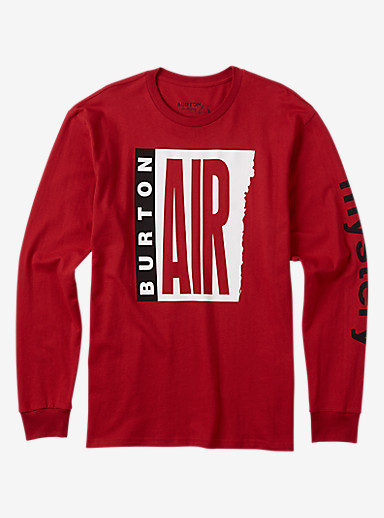 Burton Mystery Air Long Sleeve T Shirt shown in Process Red