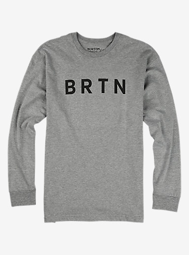 Burton BRTN Long Sleeve T Shirt shown in Gray Heather