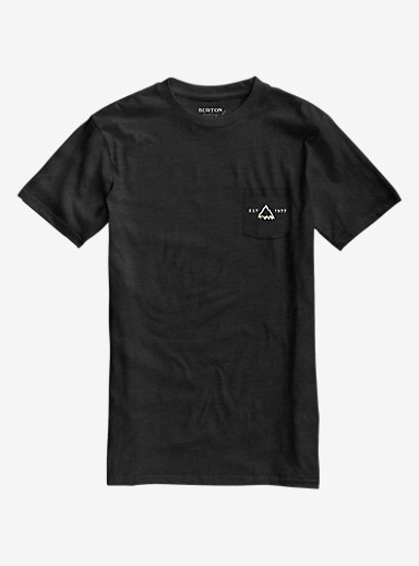 Burton Crafted SS Pocket Tee shown in True Black Heather